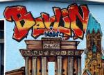 Berlin tag over Brandenburg Gate