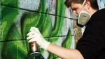 Dyze painting at Limerick's St Paddy's Day Graffiti Jam