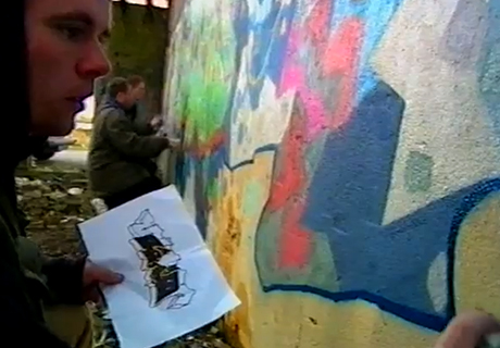 Graffiti writers in Ireland in the 90s