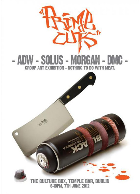 Prime Cuts Street Art Flyer