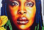 Eva Mena mural - Ennis