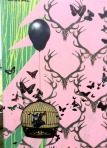 Canvaz Street Art - Caged Butterfly